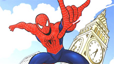 Человек паук: Онлайн раскраска