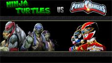TMNT VS Могучие Рейнджеры